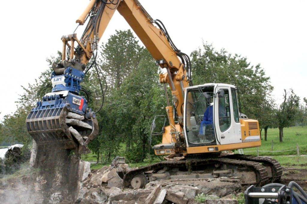 снос бетонного фундамента