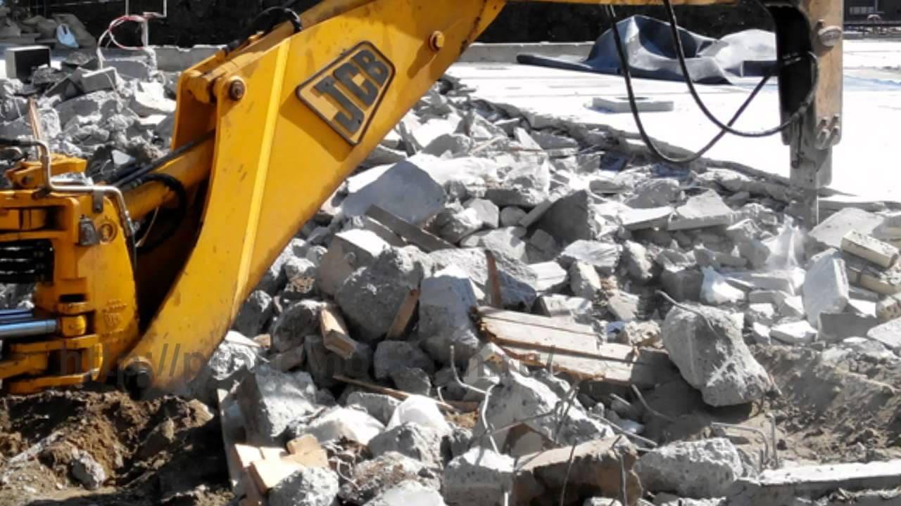 демонтируем бетонные стяжки